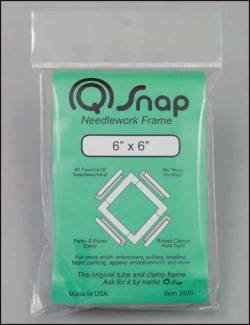 Q-Snap Stickrahmen 6 x 6 Inch (15,2 x 15,2 cm) PVC
