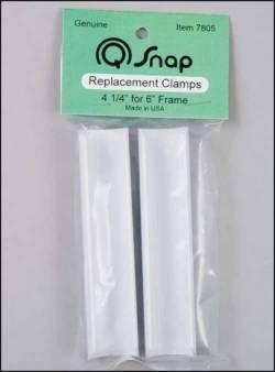Q-Snap 2 Ersatzklemmen 4 1/4 Inch für 6 Inch Rahmen PVC