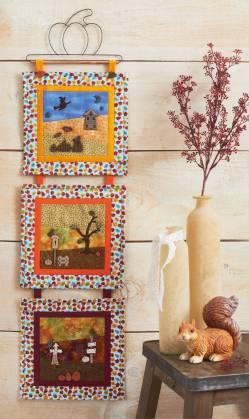 Materialpackung Wandquilt `Herbstfarben` ca. 20 x 66 cm 3-teilig