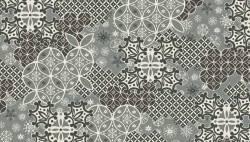Patchworkstoff Weihnachten Scandi Montage grey