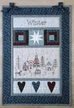 Nähanleitung Wandquilt *Winter* mit Stickpackung