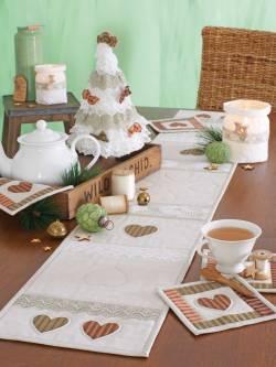 Materialpackung *Zauberhafte Weihnacht* Tischläufer und Untersetzer