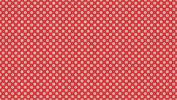 Patchworkstoff Weihnachten Scandi Snowflake Cream On Red
