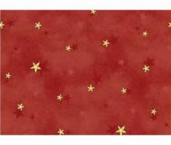Patchworkstoff Weihnachten gelbe Sterne auf burgundy