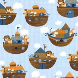Patchworkstoff Quilt Stoff Noahs Story by Swizzle Stick Studio