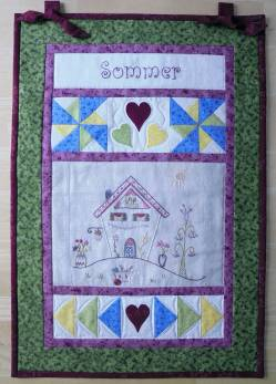 Materialpackung Wandquilt `Sommer` 35 x 52 cm mit Stickpackung