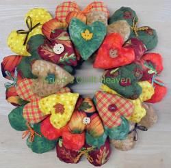 Materialpackung für einen Herzkranz Herbst; D=25cm