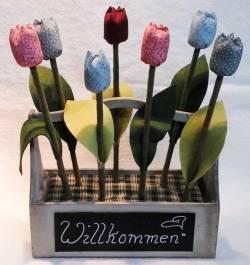Materialpackung für *Sieben Tulpen inkl. Holzbox* komplett