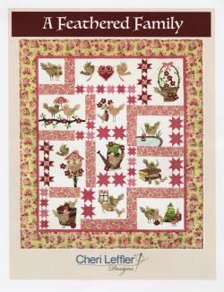 Nähanleitung Quilt *A Feathered Family* in Englisch von Cheri Leffler Variante A