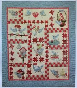Nähanleitung Quilt *A Feathered Family* in Englisch von Cheri Leffler Variante B