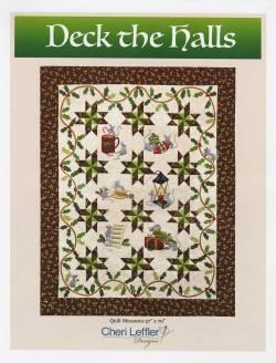 Nähanleitung Quilt *Deck the Halls* in Englisch von Cheri Leffler