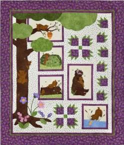 Nähanleitung Quilt *Bear Hugs* in Englisch von Cheri Leffler