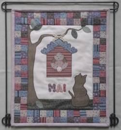 Materialpackung Wandquilt Monat *MAI* 28 x 33 cm