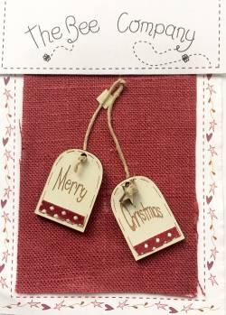 Knopf, Holzknopf TB30F Merry Christmas