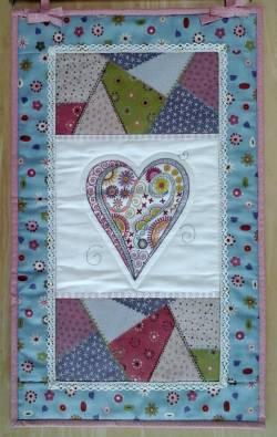 Materialpackung Wandquilt *Sommer Herz*
