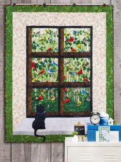 Materialpackung Wand Quilt `Vogelgezwitscher` 1,02 x 1,45m