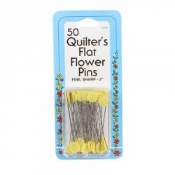 Nadeln Flower Head Fine Sharps Pin Größe 32 - 2 Inch lang 50 Stück gelb