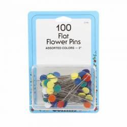 Nadeln Flower Head Fine Sharps Pin Größe 32 - 2 Inch lang 100 Stück bunt