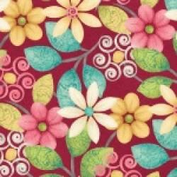 Patchworkstoff Quilt Stoff Splish Splash Blumen Beistoff