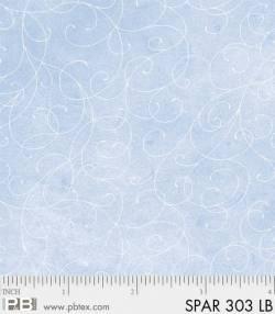 Patchworkstoff Quilt Stoff Sparkle Suede silber Kringel auf hellblau