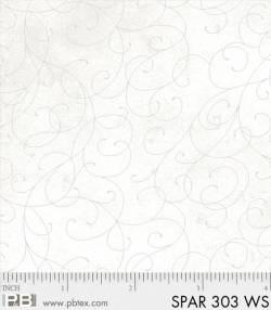 Patchworkstoff Quilt Stoff Sparkle Suede silber Kringel auf weiss