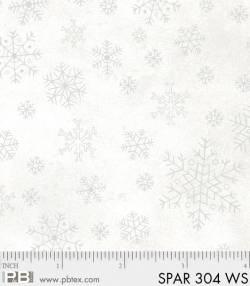 Patchworkstoff Quilt Stoff Sparkle Suede silber Schneeflocken auf weiss