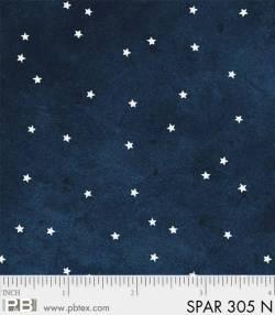 Patchworkstoff Quilt Stoff Sparkle Suede silber Sterne auf navy