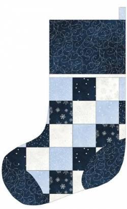 Nähanleitung Stocking Sparkle Suede blau weiss