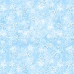 Patchworkstoff Stoff Serie *Welcome Winter* Schneeflocken auf hellblau