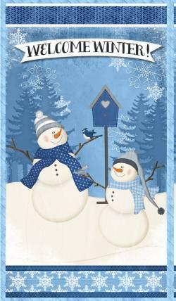 Patchworkstoff Stoff Serie *Welcome Winter* Panel mit Schneemännern