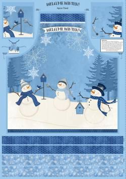 Patchworkstoff Stoff Serie *Welcome Winter* Panel für Schürze Apron