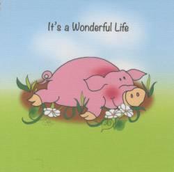 Patchwork Stoff Quilt Art Panel Pig Life Schwein