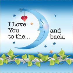 Patchwork Stoff Quilt Art Panel I love you to the Moon and back AP6.47