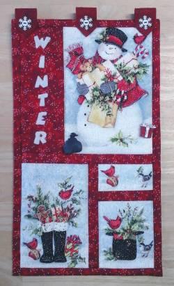 Materialpackung *Winter Welcome* Wandquilt Blumenstecker zweiseitig verwendbar