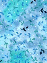 Patchworkstoff Quilt Stoff hellblau/türkis Blätter