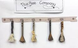 Knopf, Holzknopf TBHA6 5 Hexenbesen witches brooms