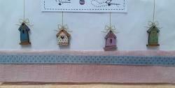 Knopf, Holzknopf TB15B 4 Bird Houses