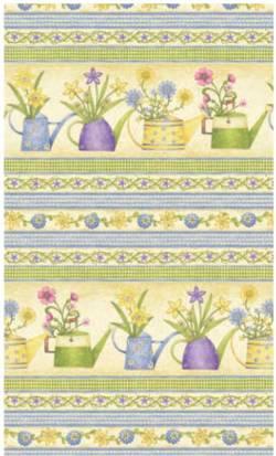 Patchworkstoff Stoff Quilt Garden Gifts Border Blumen Gießkanne