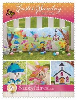 Nähanleitung Oster Kissen Easter Sunday Pillow Shabby Fabrics SF49867
