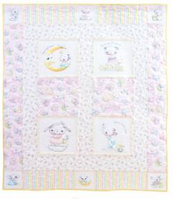 Materialpackung *Friends Forever* Flanell Kinder Quilt Mädchen 119x132cm
