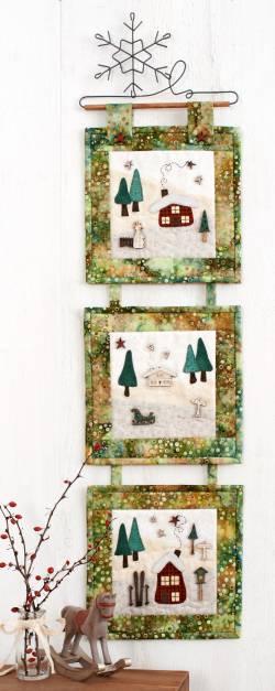 Nähanleitung Wandquilt `Winter Wonderland` 3-teilig