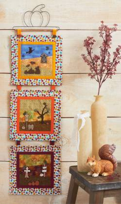 Nähanleitung Wandquilt `Herbstfarben` ca. 20 x 66 cm