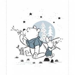Patchworkstoff Quilt Stoff Panel White Disney Pooh & Piglet 90cm