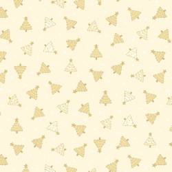 Patchworkstoff Quilt Stoff Cream Tonal Trees Christmas