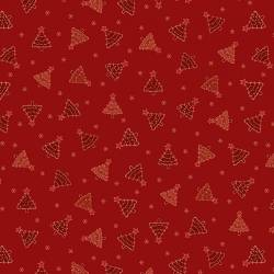 Patchworkstoff Quilt Stoff Red Tonal Trees Christmas