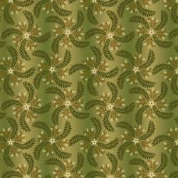 Patchworkstoff Quiltstoff *Country Journey* Green Pinwheel Ombre HG2434-66