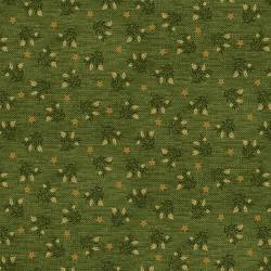 Patchworkstoff Quilstoff *Country Journey* Green Wheat Star Calico grün Sterne HG2435-66