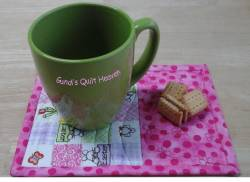 Materialpackung `Mug Rug (6)` Ostern rosa je ca. 14,6 cm x 19,7 cm
