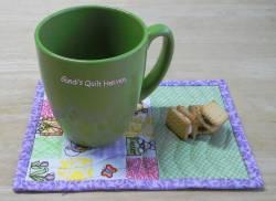 Materialpackung `Mug Rug (6)` Ostern grün/lila je ca. 15cm x 20cm