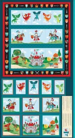 Patchworkstoff Quilt Panel Stoff Dragonheart Pocket Panel
